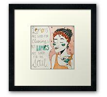 welcome to limearitaville  Framed Print