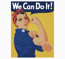 "Rosie The Riveter - ""We Can Do It!"" Poster .  Kids Tee"