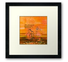 Yoga for Elephants 2 Framed Print