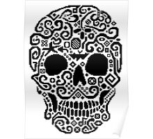 Skull and Cross Stitch Poster