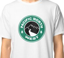 Pacific North West Starbucks Coffee PNW Hiking Classic T-Shirt