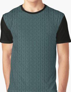 Cast-on stitches: Dark Blue Graphic T-Shirt