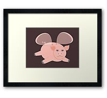 EVENING OF THE GLASSWINGED PIG Framed Print