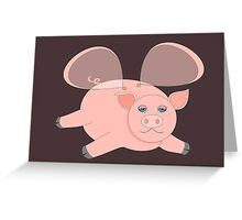 EVENING OF THE GLASSWINGED PIG Greeting Card