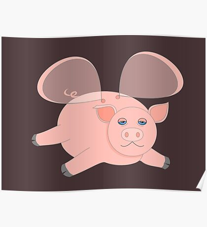 EVENING OF THE GLASSWINGED PIG Poster