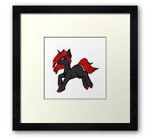 Punk Rock Unicorn Framed Print