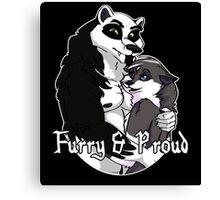 Proud Furry Canvas Print