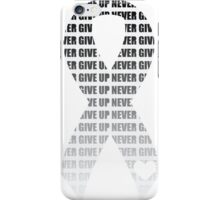 Never Give Up Ribbon - White iPhone Case/Skin