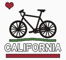 California Flag (Black Bicycle) (Large & Centered) Kids Tee
