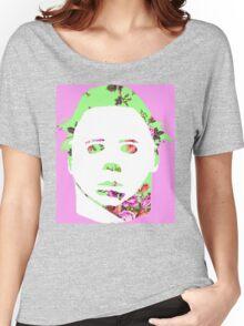 Michael Myers Floral Pop-Art Women's Relaxed Fit T-Shirt