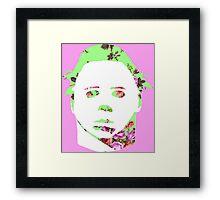 Michael Myers Floral Pop-Art Framed Print