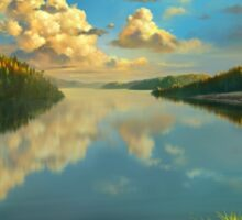Volga Landscape Sticker