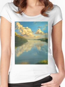 Volga Landscape Women's Fitted Scoop T-Shirt
