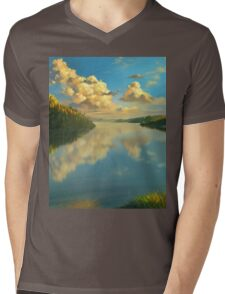 Volga Landscape Mens V-Neck T-Shirt