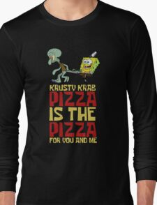 Krusty Krab Pizza - Spongebob Long Sleeve T-Shirt