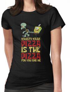 Krusty Krab Pizza - Spongebob Womens Fitted T-Shirt