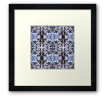 Blue Knitted Circles Framed Print
