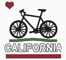 California Flag (Black Bicycle) (Small & Aligned to the Right) Baby Tee