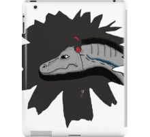Jurassic Velociraptor wearing headphones iPad Case/Skin
