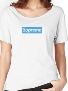 Supreme Blue Women's Relaxed Fit T-Shirt