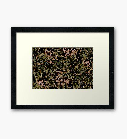 Leaves - Dull Green Framed Print