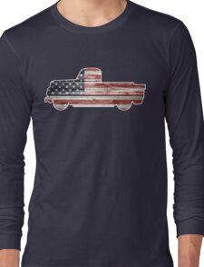 Patriotic Vintage Pickup Truck Long Sleeve T-Shirt