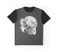 3 Lions with Moon Graphic T-Shirt