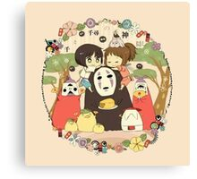 collage ghibli familly Canvas Print