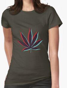 Marijuana Leaf 4 Womens Fitted T-Shirt