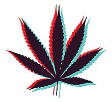 Marijuana Leaf 4 Photographic Print