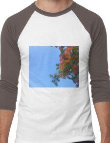 Gulmohar Men's Baseball ¾ T-Shirt