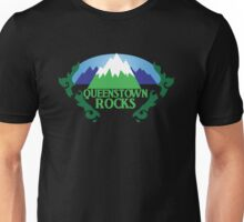 QUEENSTOWN rocks New Zealand with map Unisex T-Shirt