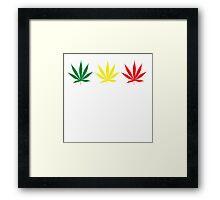 Marijuana Leaf 6 Framed Print