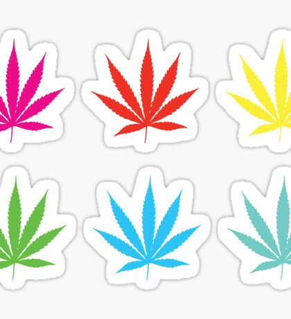 Marijuana Leaf 7 Sticker