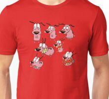 courage dog collage Unisex T-Shirt