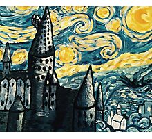 Starry Night Over Hogwarts Photographic Print
