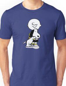 hug snoopy charlie Unisex T-Shirt