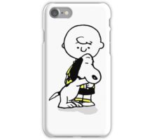 hug snoopy charlie iPhone Case/Skin