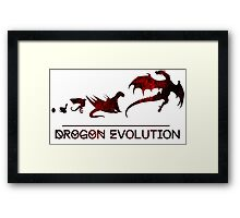 Game of Thrones Drogon Evolution Framed Print