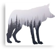 wolf in the mist  Canvas Print