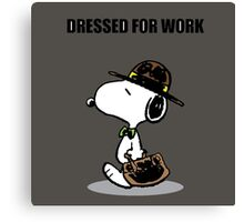 dressed for work snoopy Canvas Print