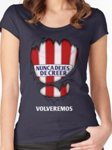 Atleti - Nunca Dejes De Creer, Volveremos Women's Fitted Scoop T-Shirt