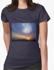 Balloon of clouds at Sunset Womens Fitted T-Shirt