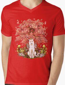 OKAMI & SAKURA Mens V-Neck T-Shirt