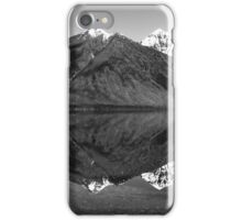 Mirror Reflection in Lake McDonald ~ Black & White iPhone Case/Skin