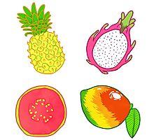 Tropical Fruit Photographic Print