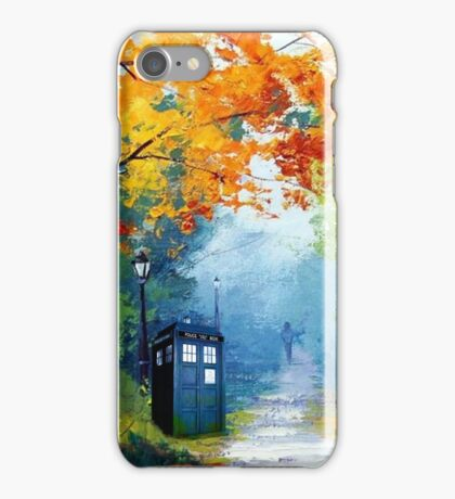Tardis Oil Painting iPhone Case/Skin