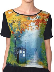 Tardis Oil Painting Chiffon Top
