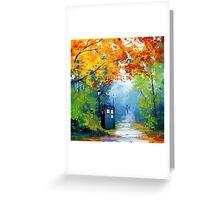 Tardis Oil Painting Greeting Card