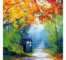 Tardis Oil Painting Photographic Print